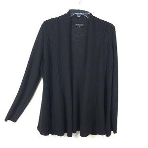 Eileen Fisher Womens Wool Solid Black Cardigan